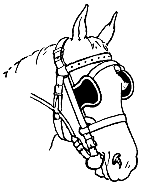 Free Horse Blinders Clipart